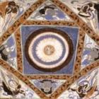 敦煌第305窟的三兔<br /><b>Ceiling of Mogao Cave 305</b><br />Dunhuang, Gansu Province<br />Sui dynasty (581-618)