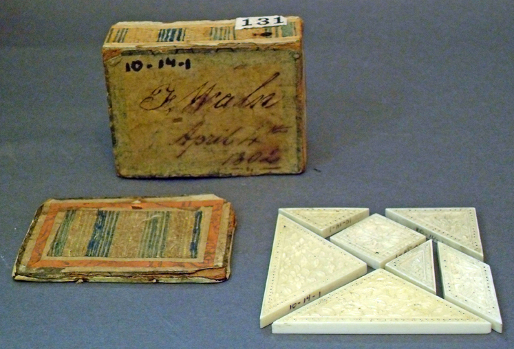 ivory tangram set from 1802
