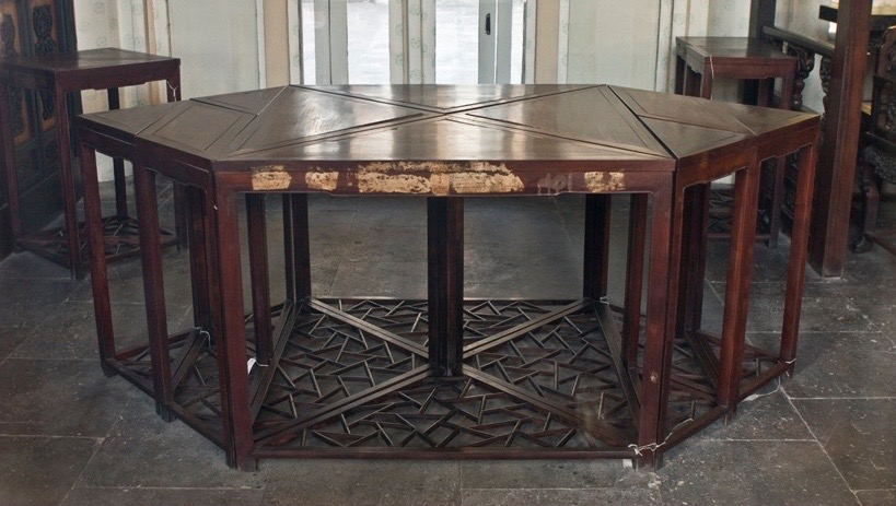 Tangram tables at the Summer Palace, Beijing