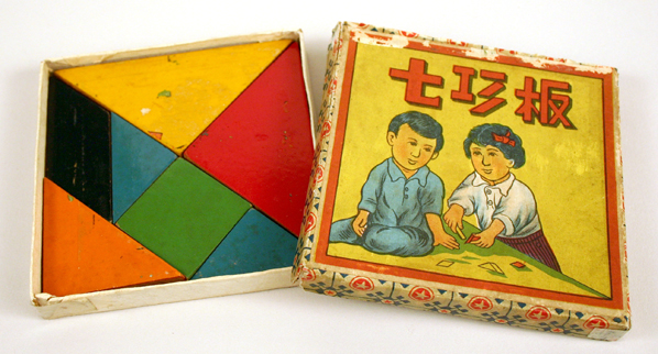 Wood tangram set, Shanghai, 1950s