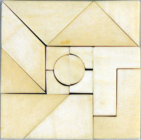 ivory fifteen-piece tangram puzzle