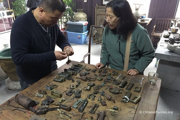 Wei Zhang with antique Chinese locks