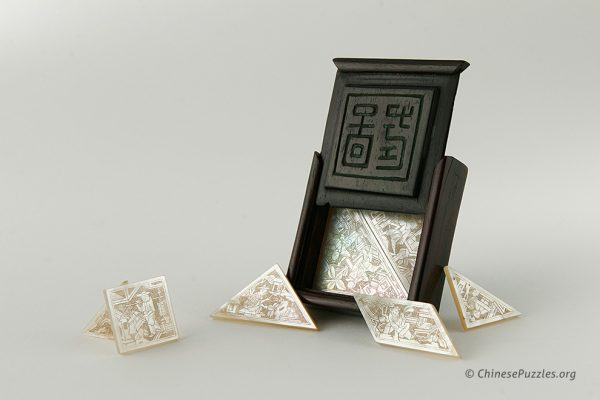 mother-of-pearl tangram set