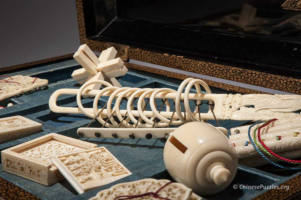Chinese export ivory puzzles and toys