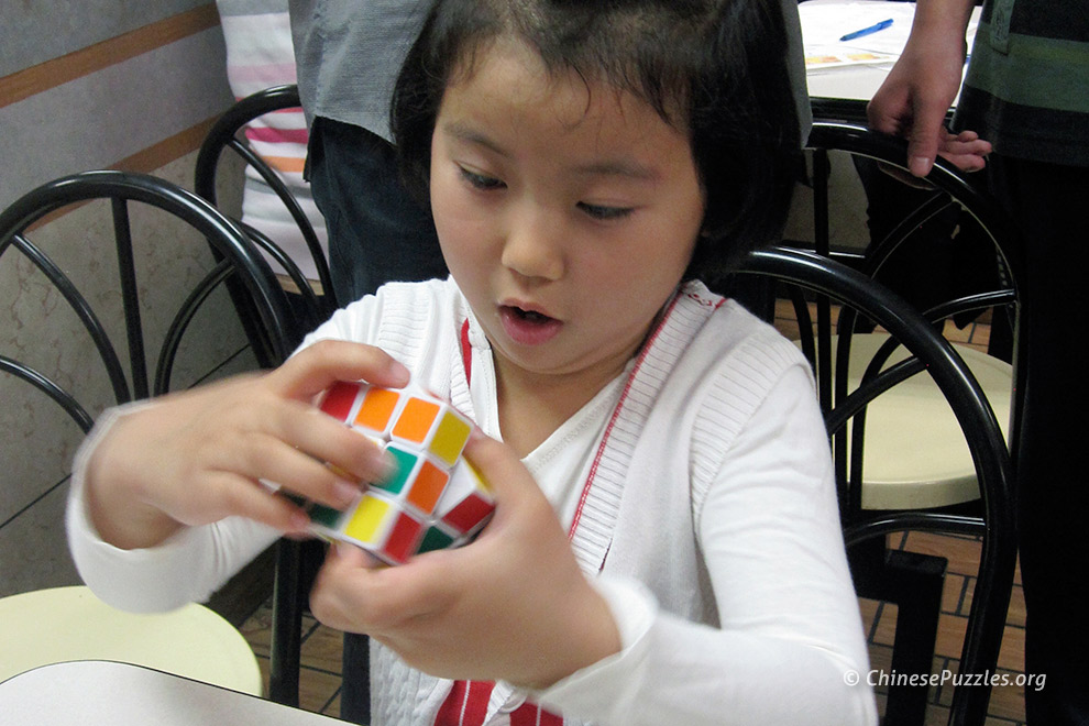 young Rubiks cuber